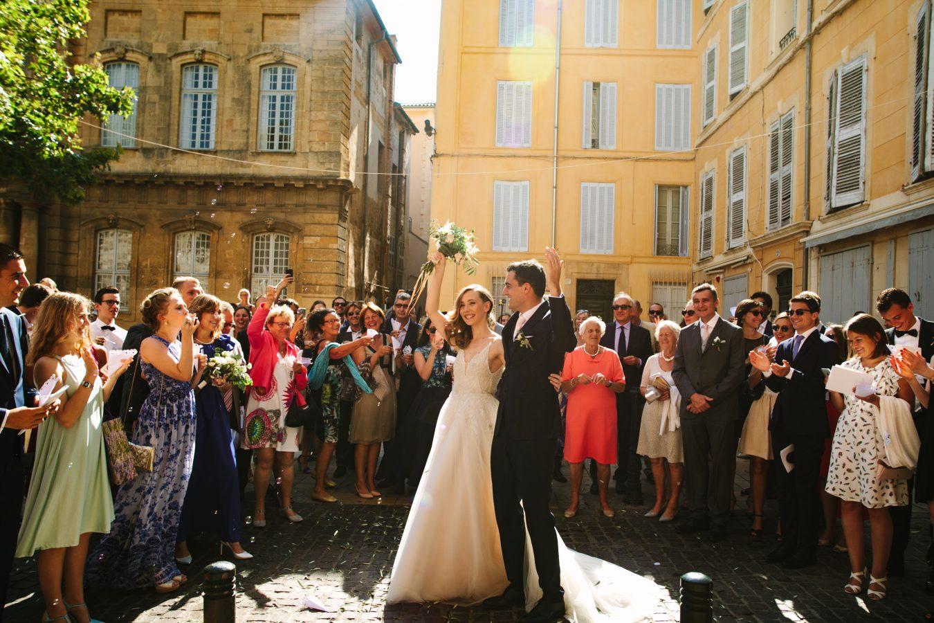 Wedding Aix en Provence Monique Lhuillier dress