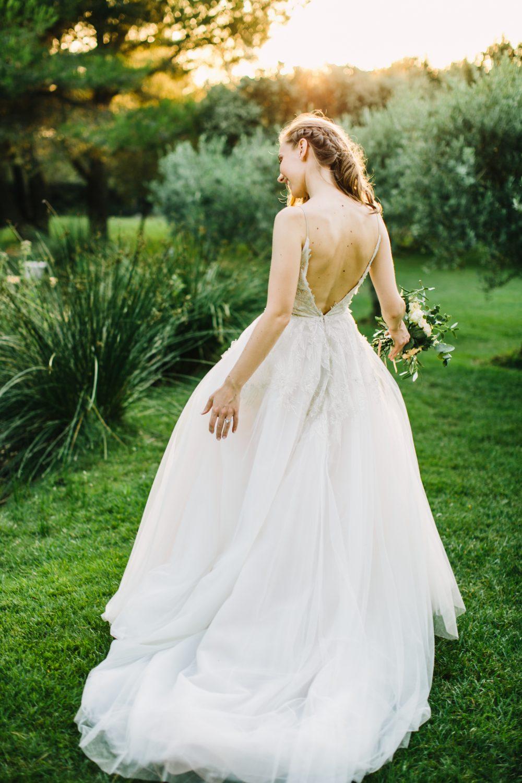 Wedding Bastide d'Astres Monique Lhuillier dress