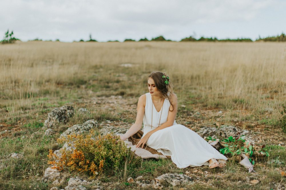Bohemian wedding inspiration photography