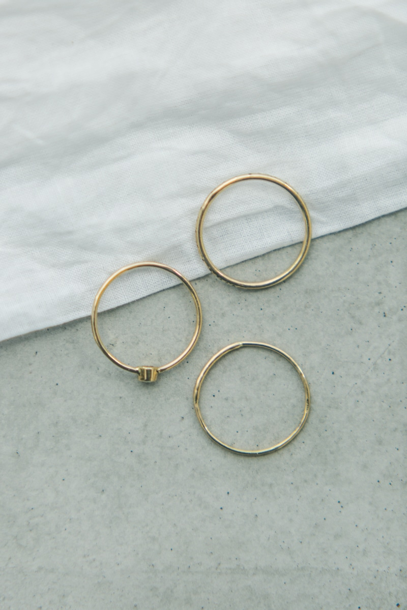 Minimalist wedding inspiration photoshoot rings
