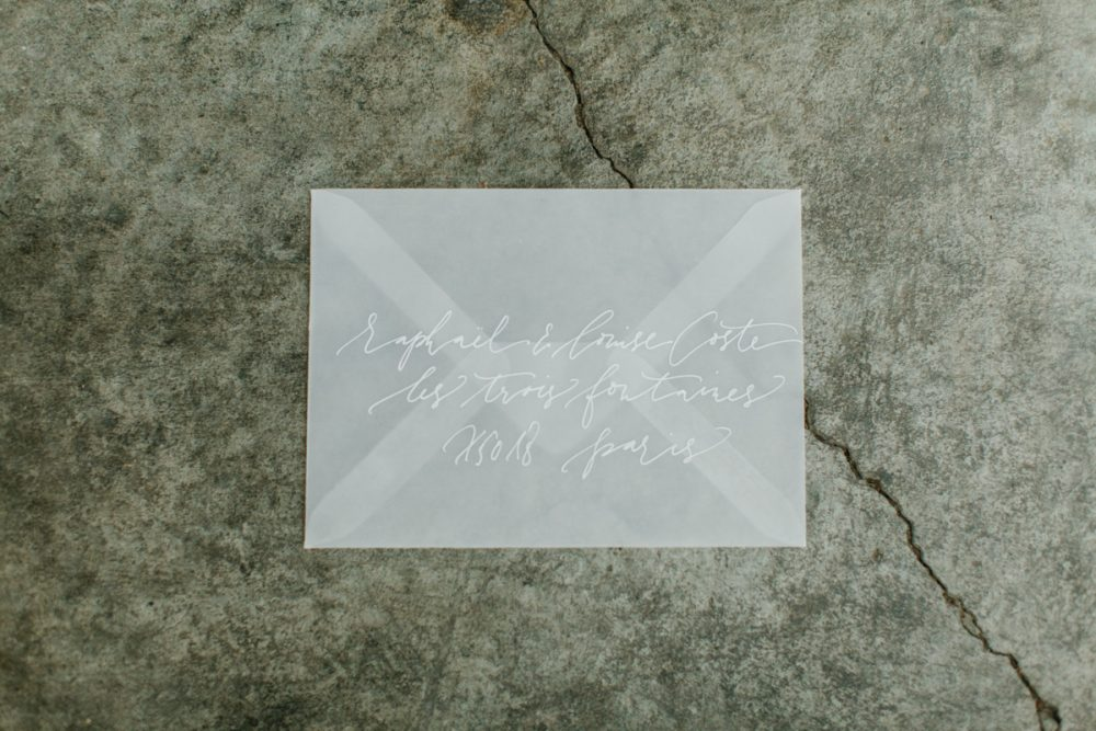Minimalist wedding inspiration photoshoot stationery